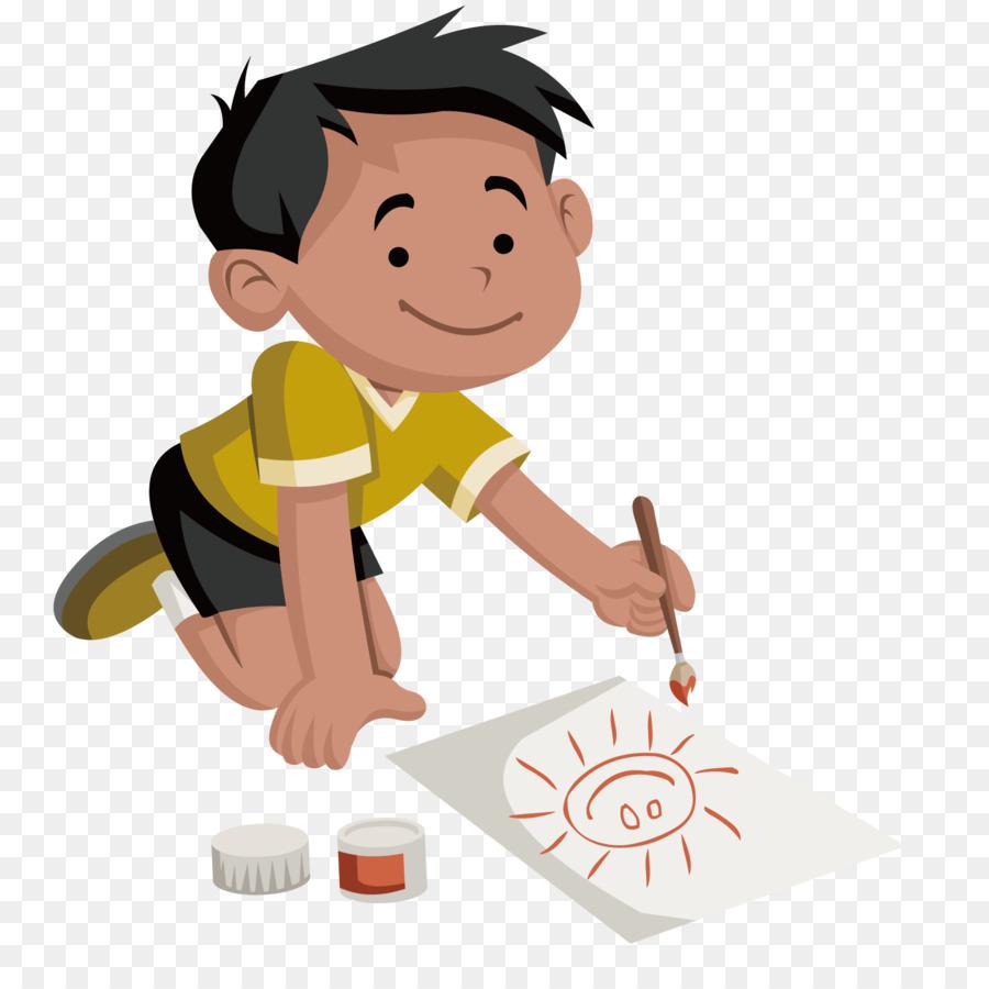 Мальчик рисует картинки, тимура