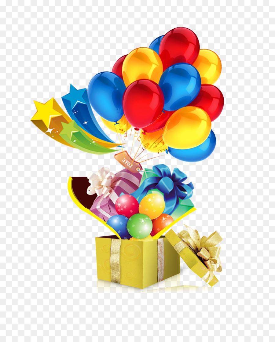 Картинки подарочек с шарами