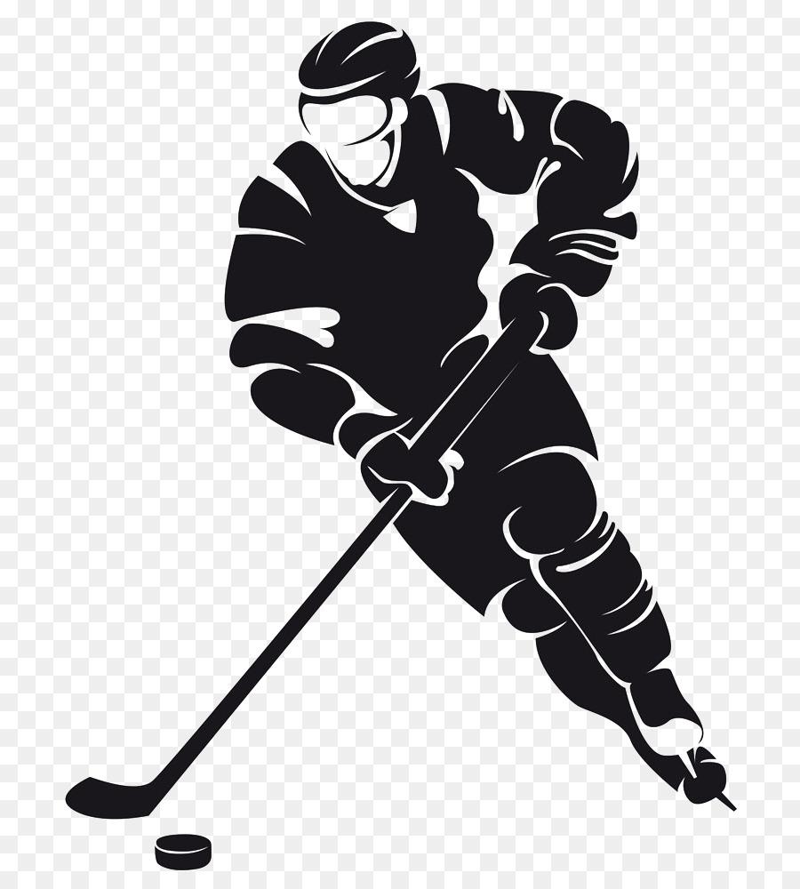 Хоккеист контур картинка