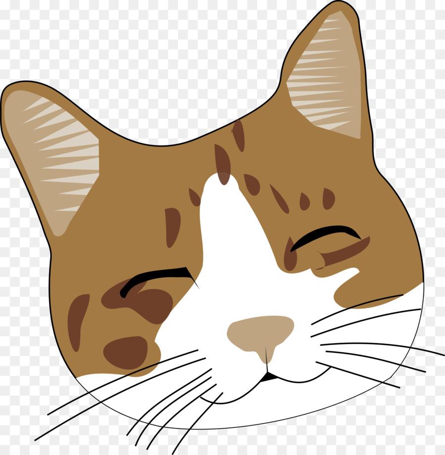 картинка голова кошки на белом фоне выполнен одном слое
