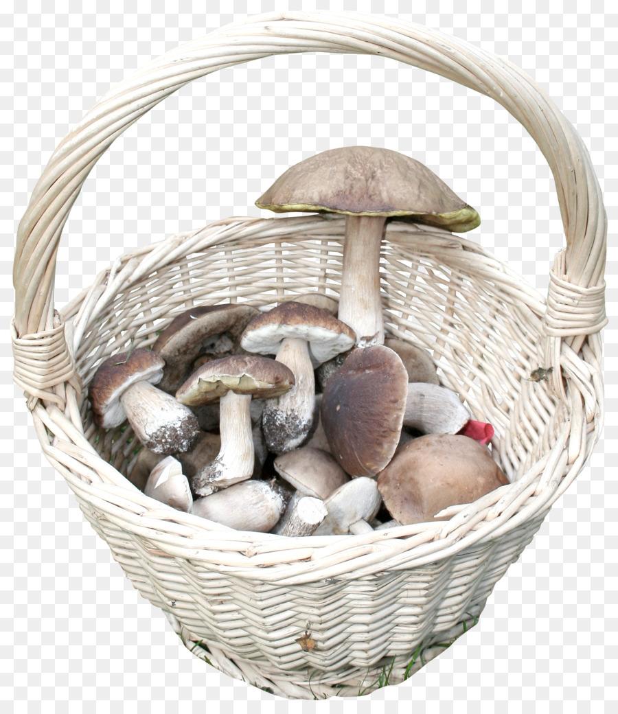 Картинка грибы в корзинке на прозрачном фоне