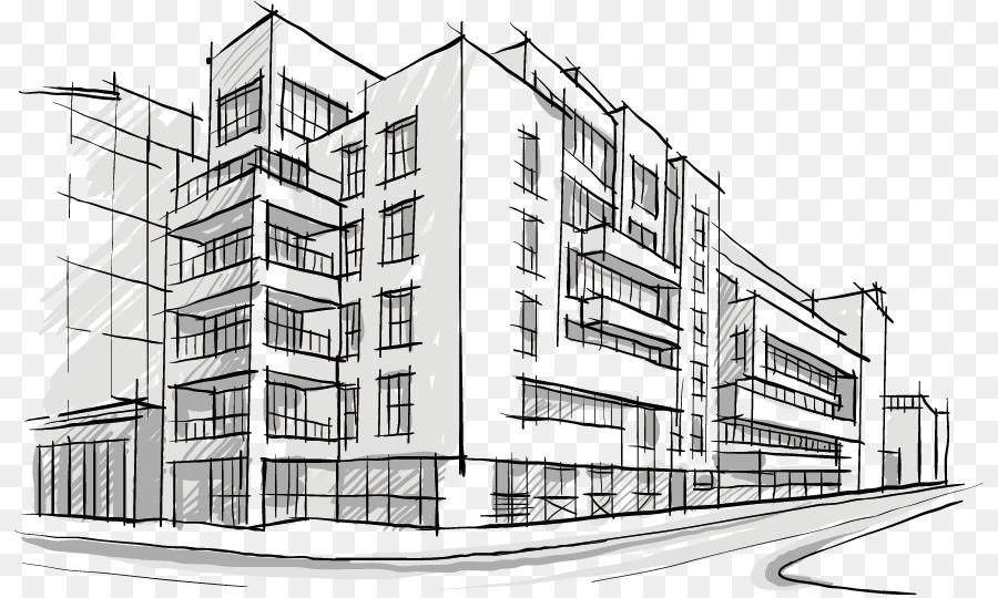 многоэтажные дома картинки рисунки поле