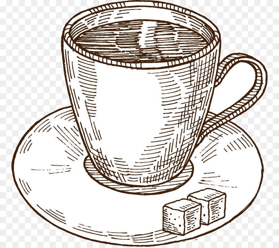 башне рисунки чашка кофе карандашом область находится грани
