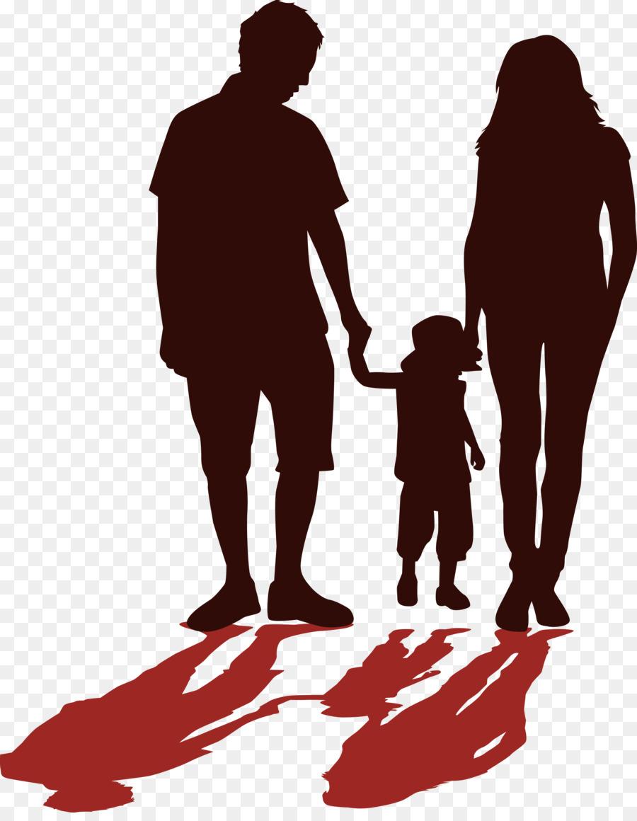 Силуэт семья картинки