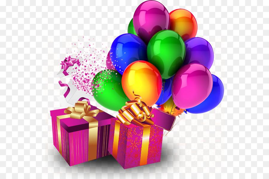 Картинки с днем рождения шарики подарки