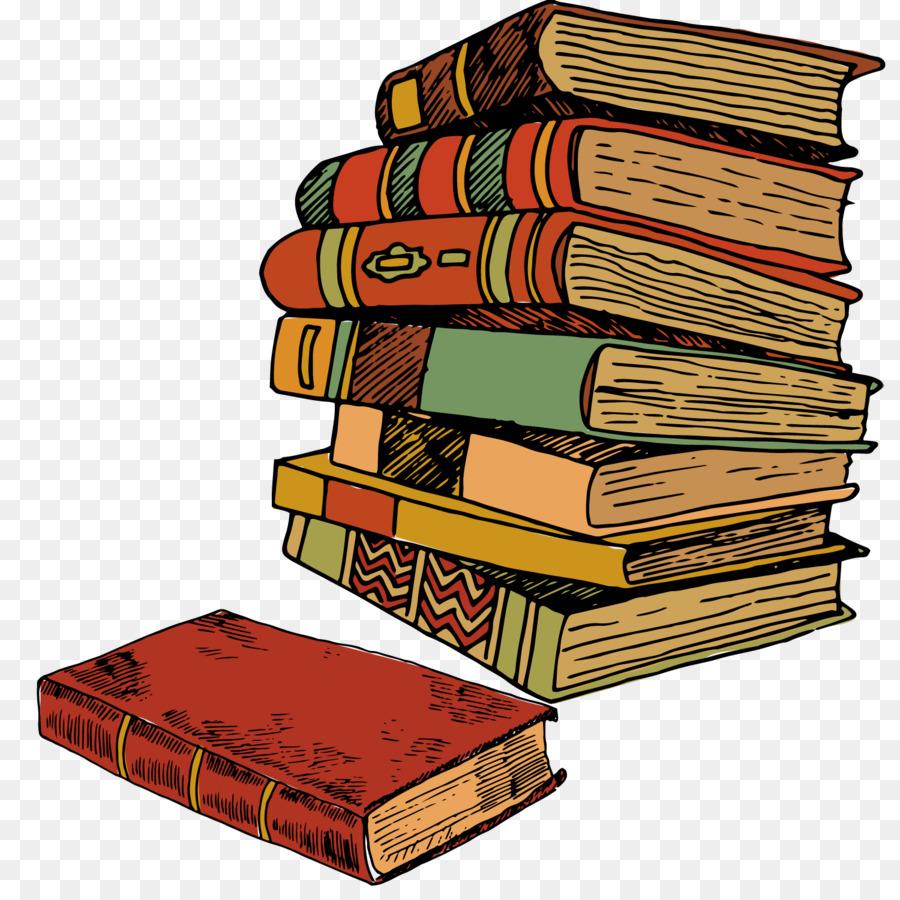 книги в стопке рисунок течение многих лет