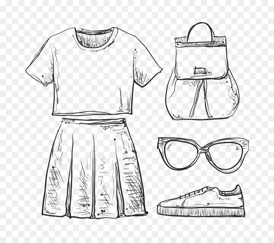 Картинки одежды нарисованные карандашом