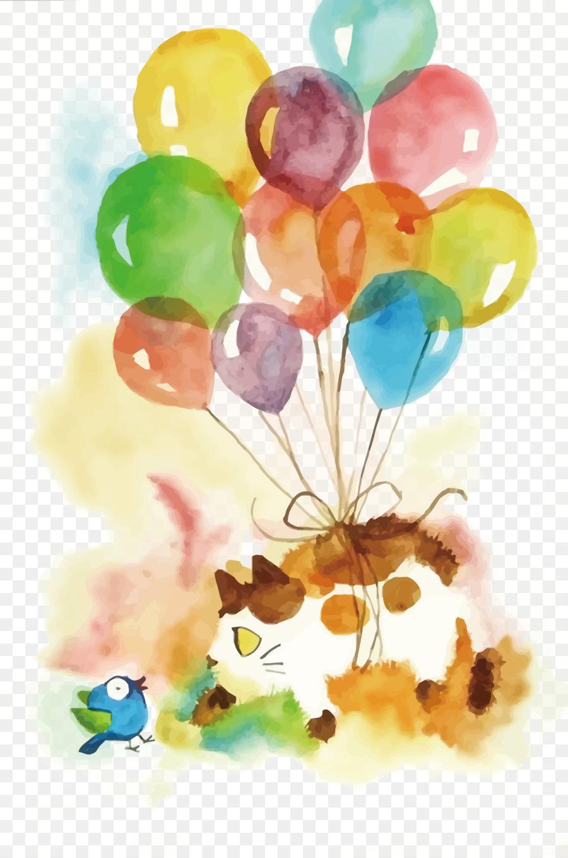 Тебя, открытка на день рождения на воздушном шаре