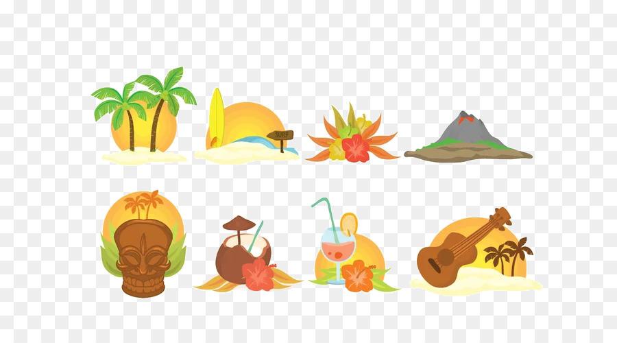 Гавайи картинки рисованные