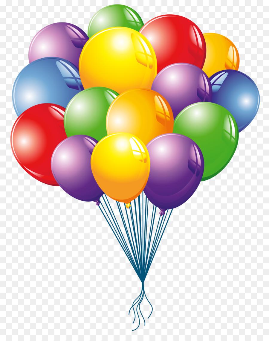 Открыток, картинка с воздушными шарами на прозрачном фоне