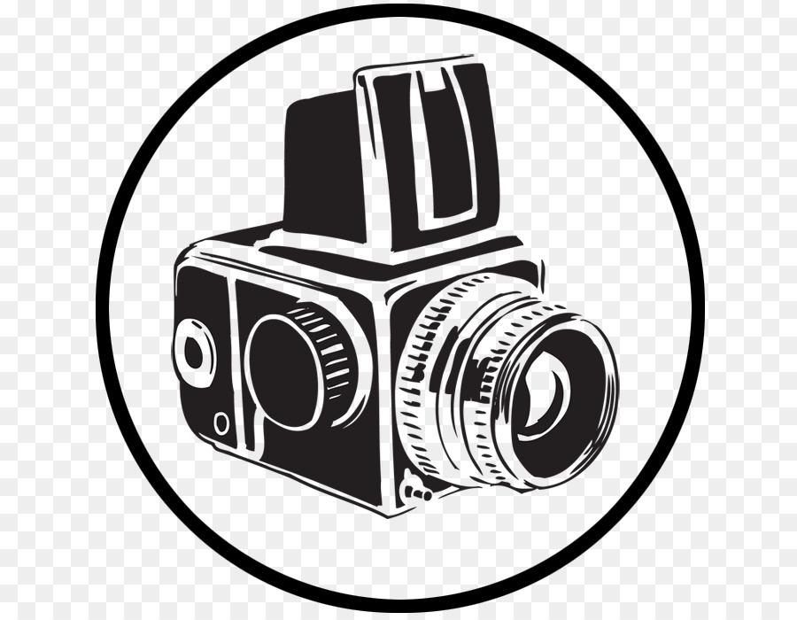 Логотип черно белой фотографии