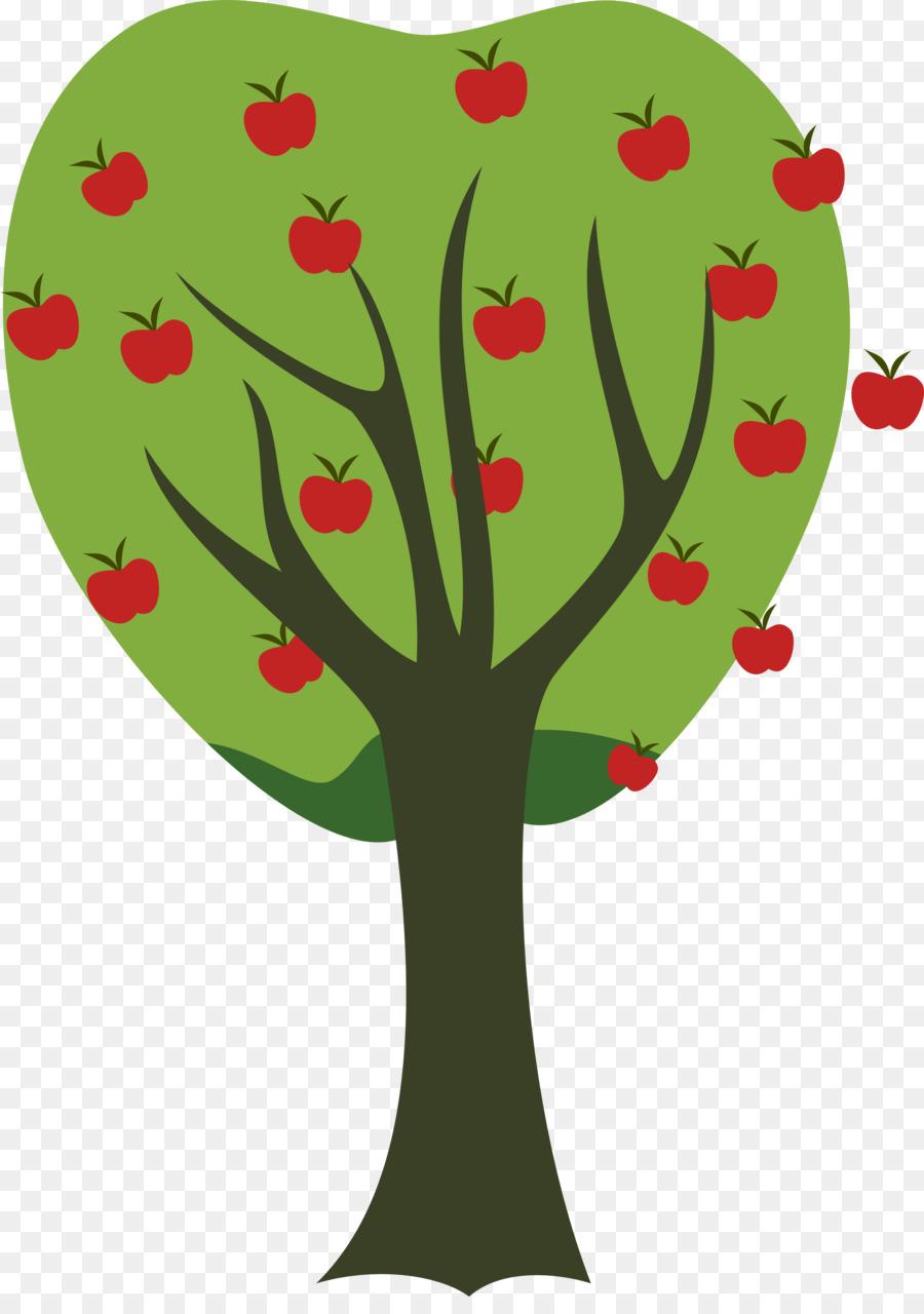 Новогоднюю, картинка дерево с яблоками