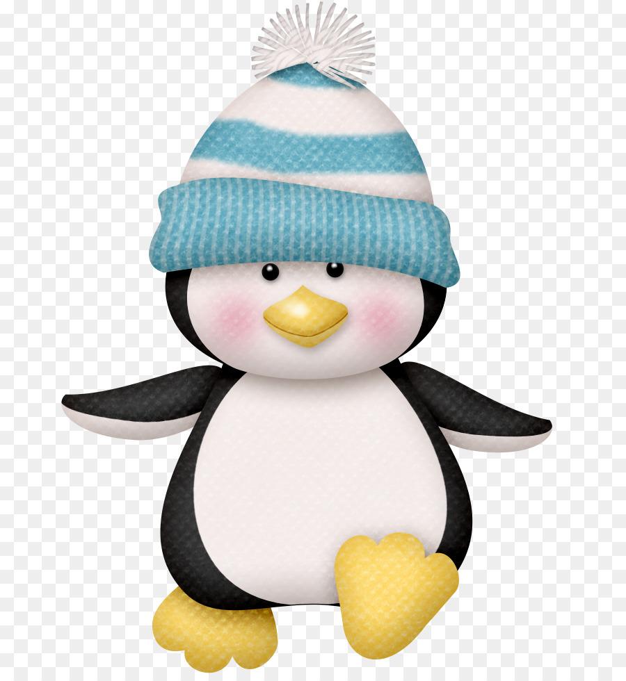 Картинка пингвин новогодний