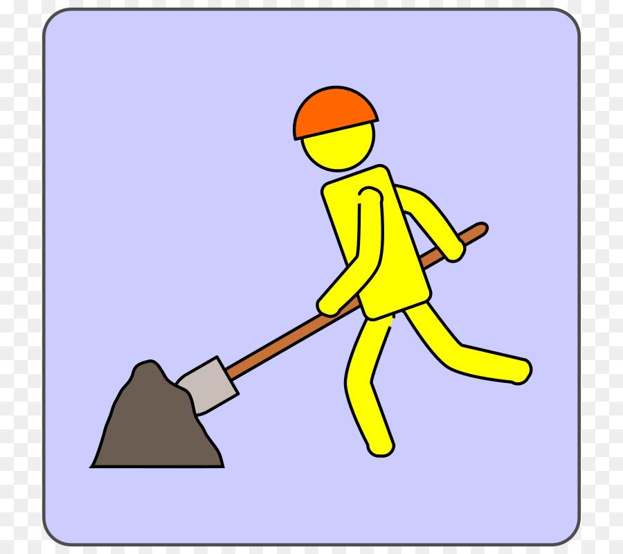 человечек с лопатой картинка