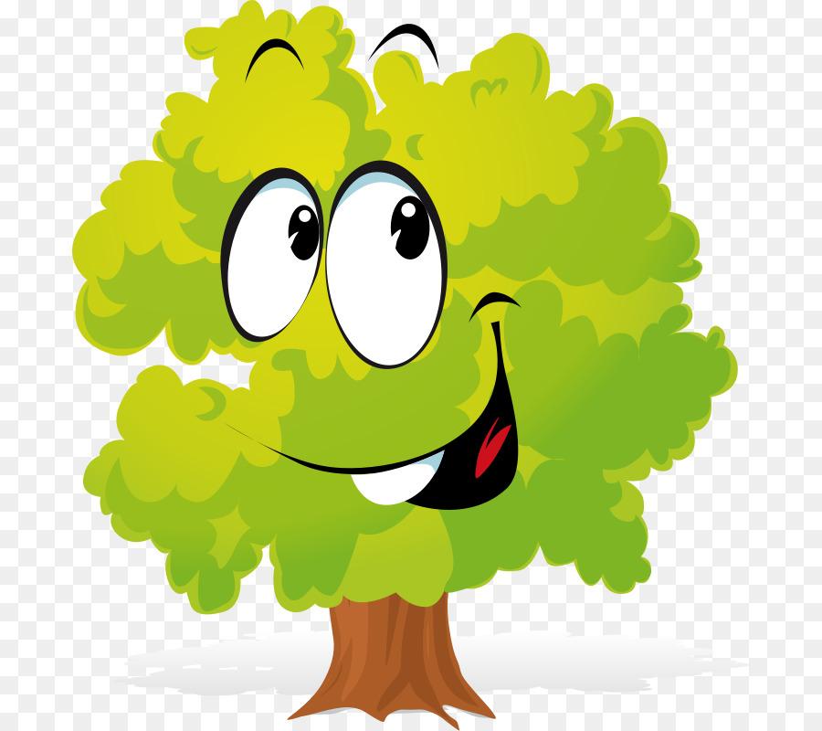 Днем, смешные рисунки с деревьями