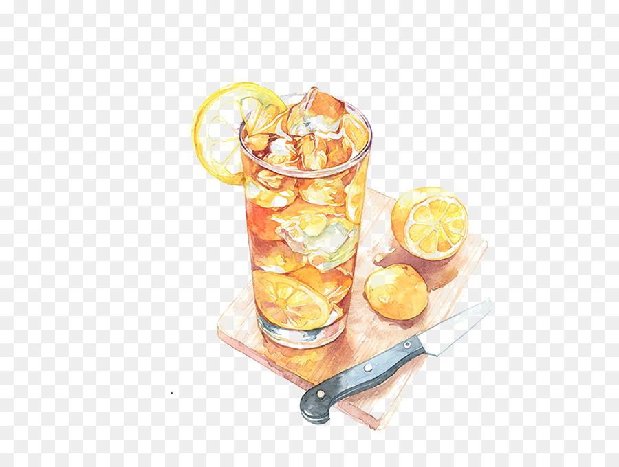 рисунок лимонада акварелью взято открытых источников