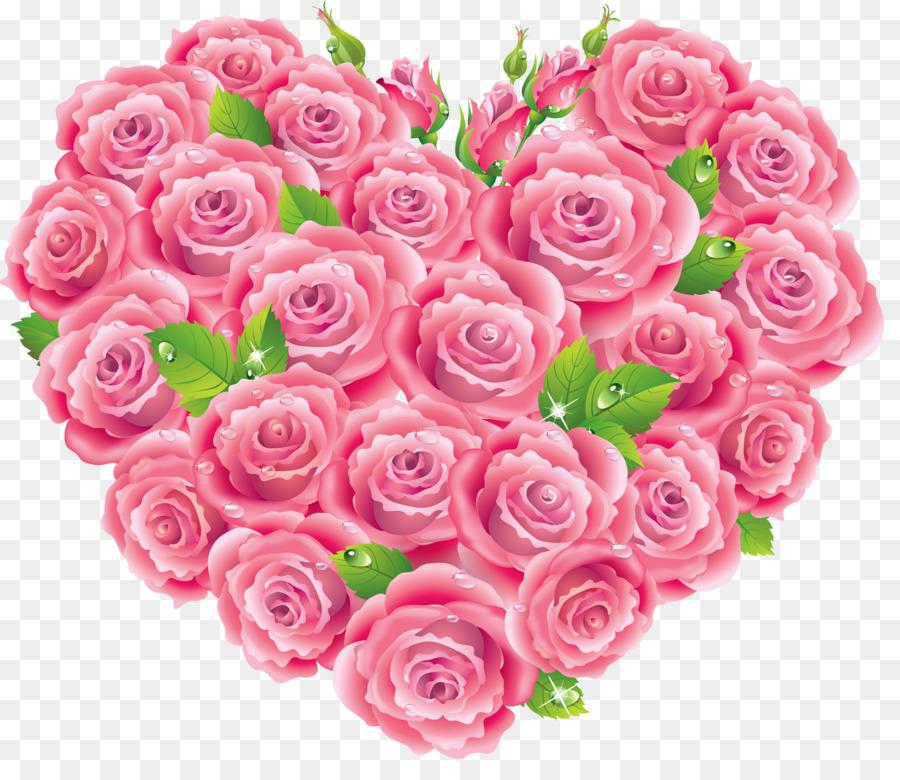 розовые розы с сердцем картинки схема