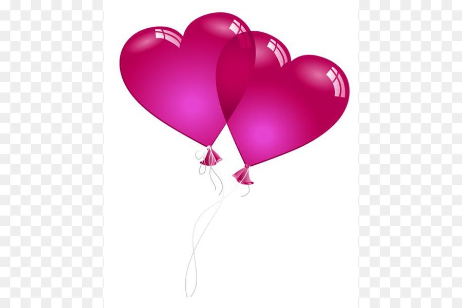 Открытки воздушный шар сердце