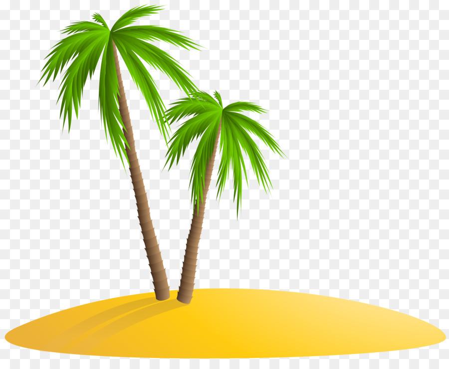 Картинка пальма на острове