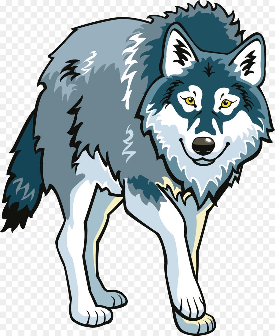 Анимация серый волк на прозрачном фоне