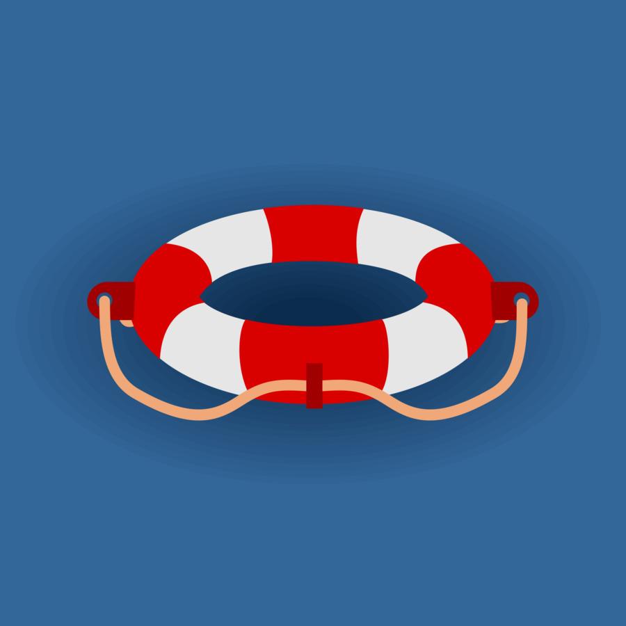 Спасательный круг рисунок вектор