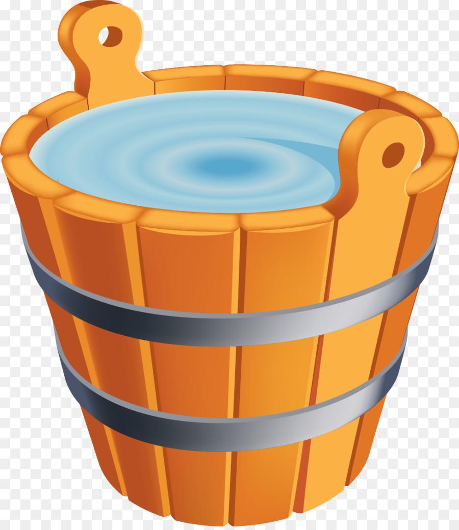 Картинка с ведром воды, касаткой
