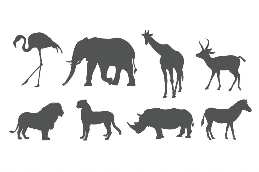 Картинка силует животными