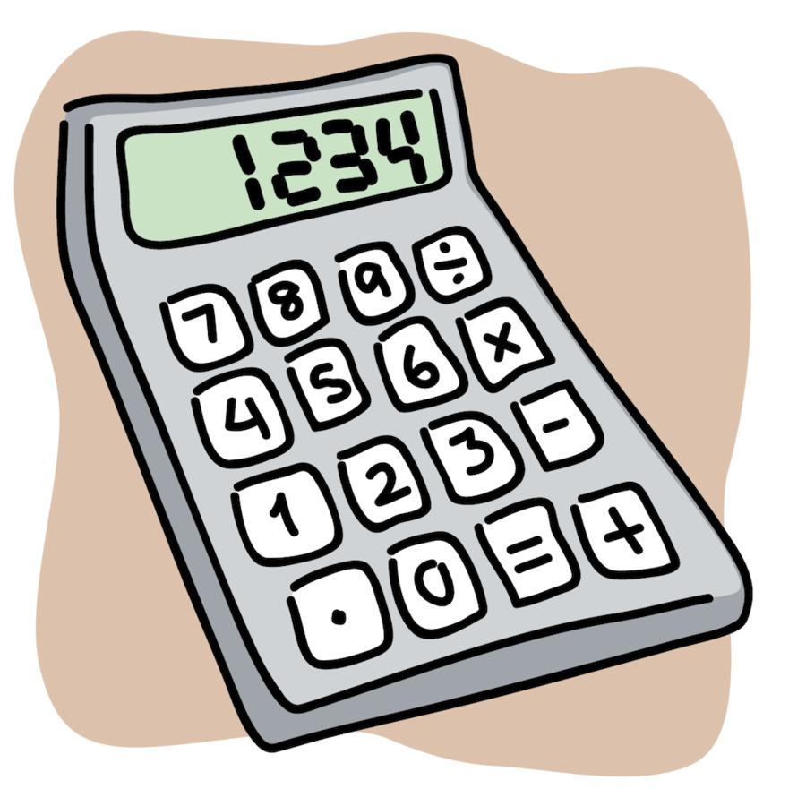 Картинка ребенок с калькулятором