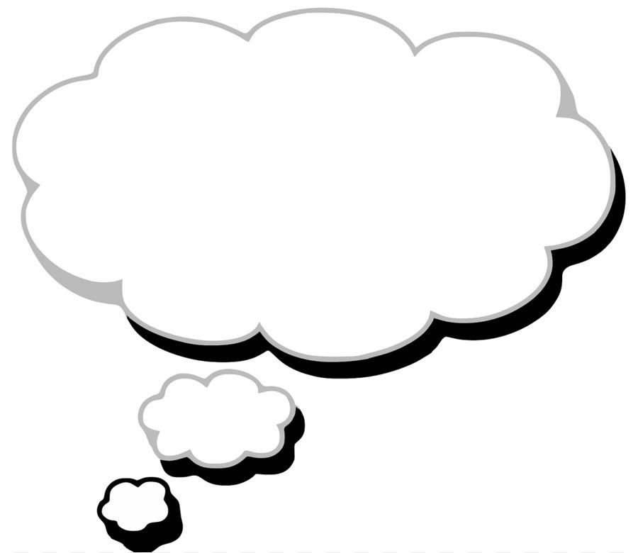 Картинка с облаком мыслей
