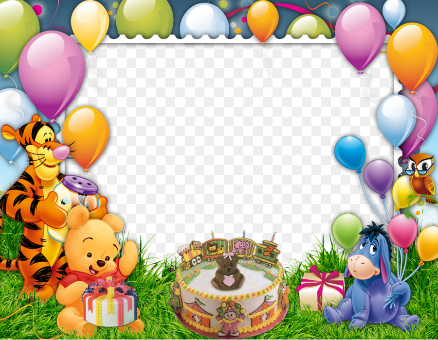 Рамка открытка с днем рождения детская