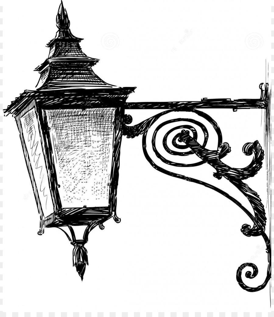 Картинки фонарей уличных карандашом, открытку