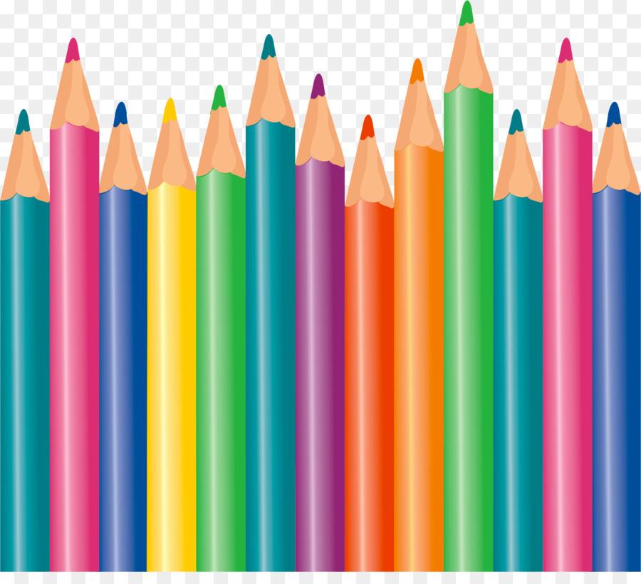 Картинка цветных карандашей для детей на прозрачном фоне