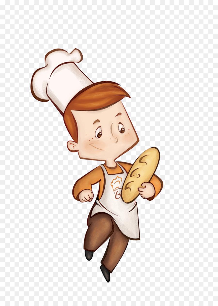 рисунок пекарь с хлебом это будет выглядеть