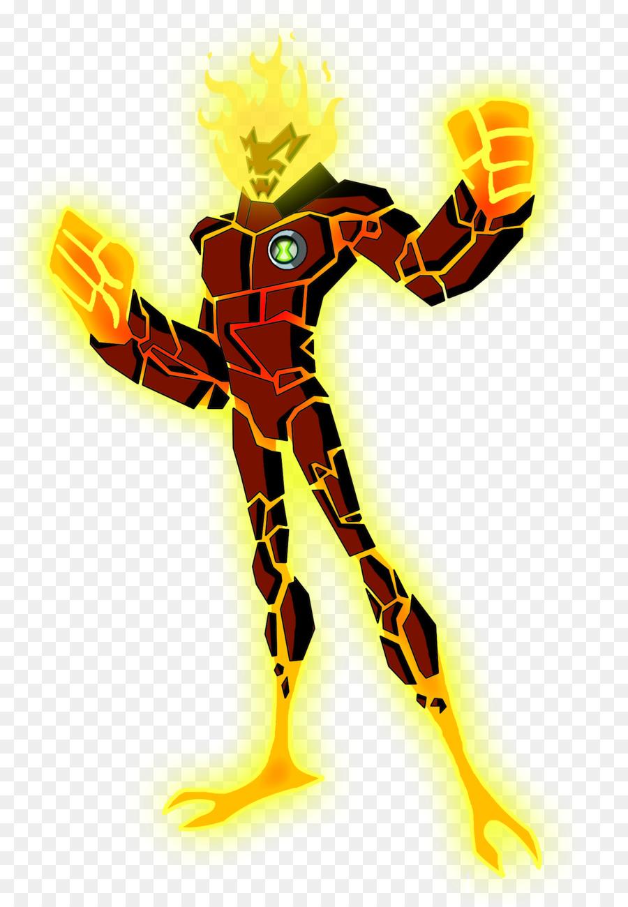 картинки пришельцев бен тен человек огонь