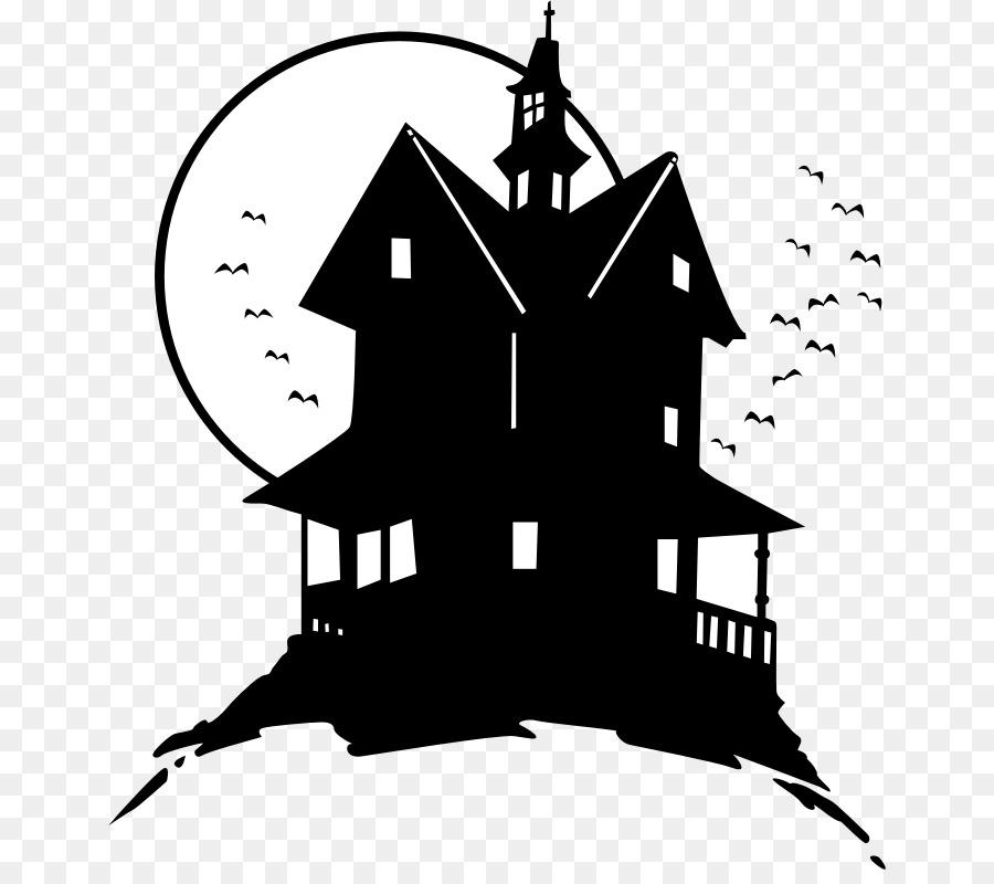 Дом с привидениями рисунок