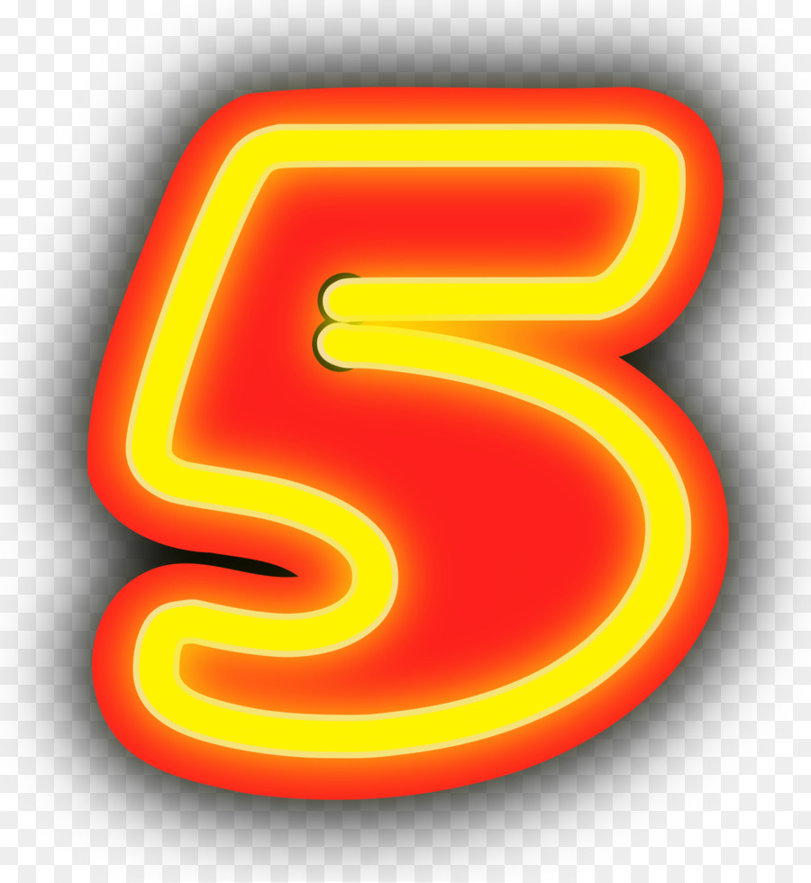 Картинки цифра 5 красная