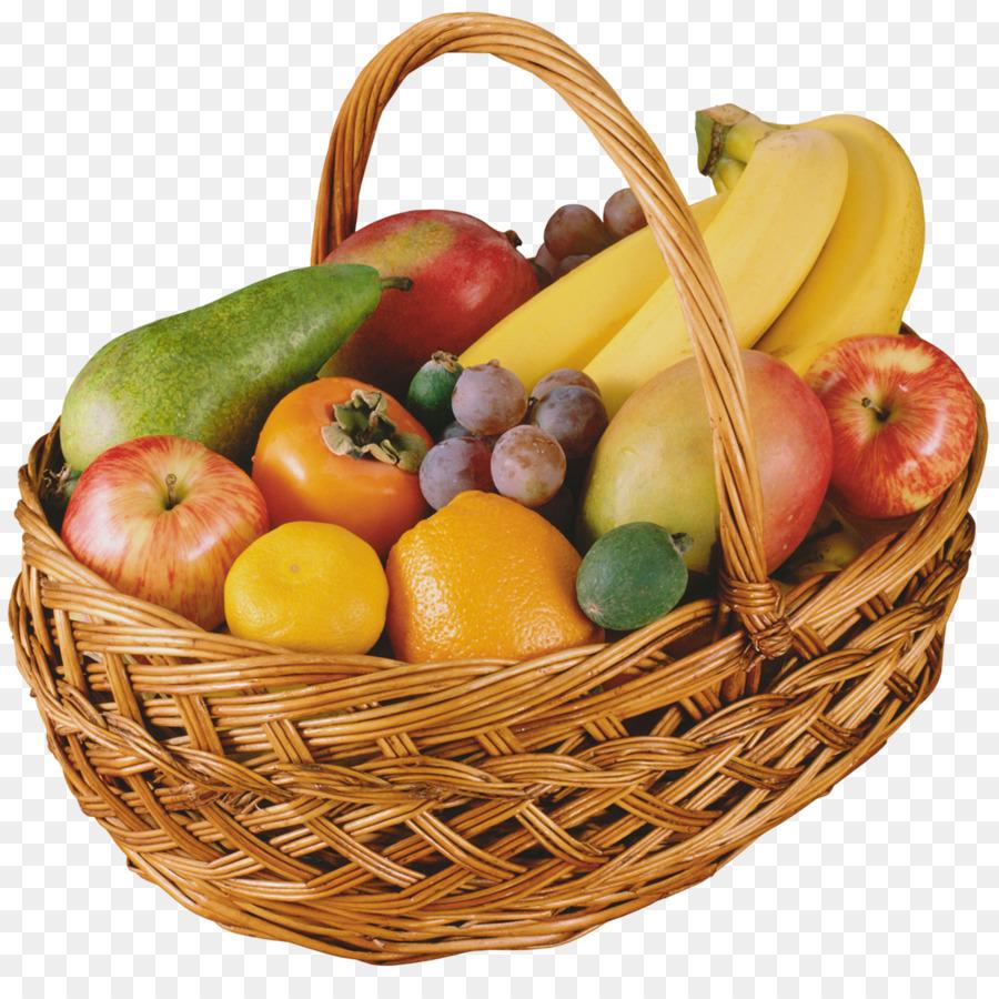 Открытка марта, картинка корзинка с фруктами