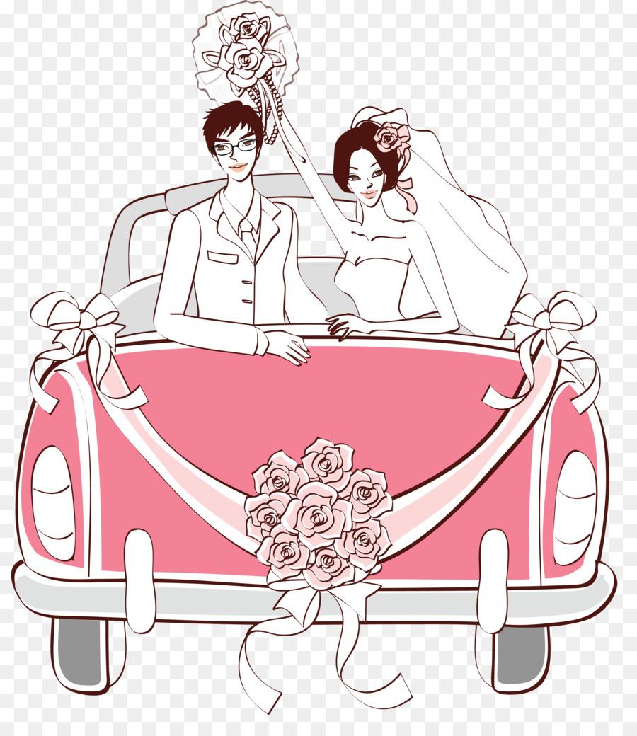 красивые картинка свадебная машина рисунок надёжное