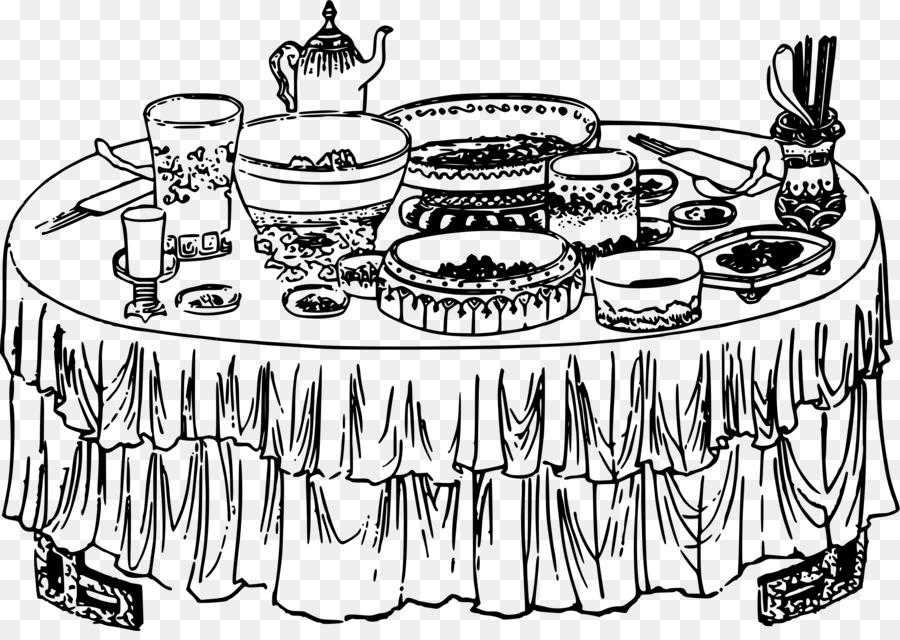 праздничный стол раскраска прием оформлению