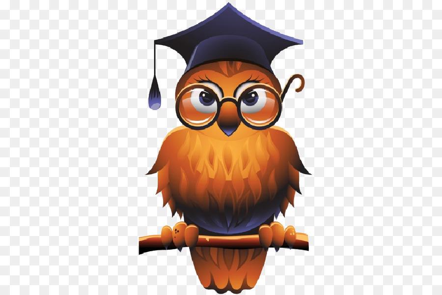 картинки сова в очках и шапке