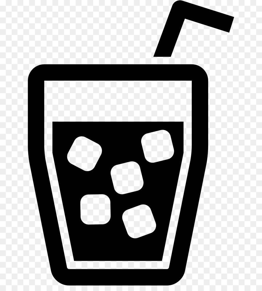drink glass with ice cubes and straw free icon flaticon - 710×981