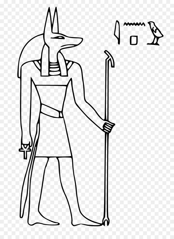 Раскраска боги древнего египта