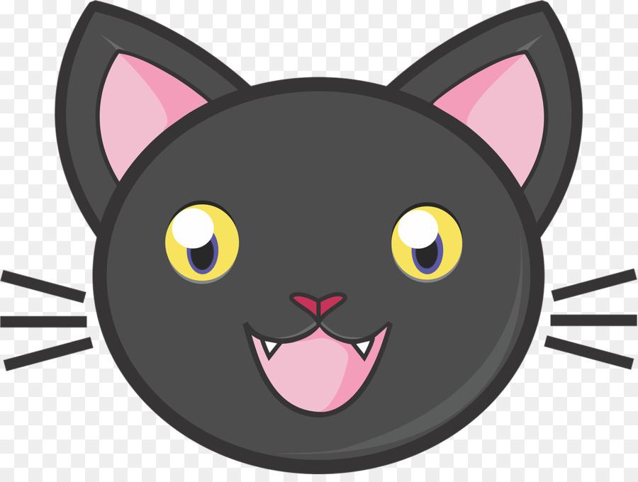 Рисунок смешной морды кота