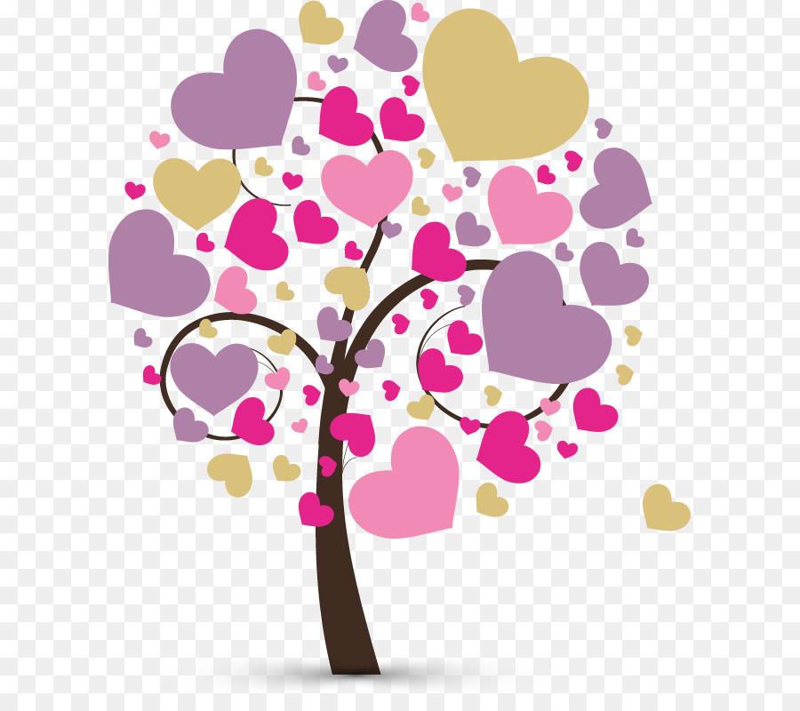полезная картинка дерева с сердечками моду