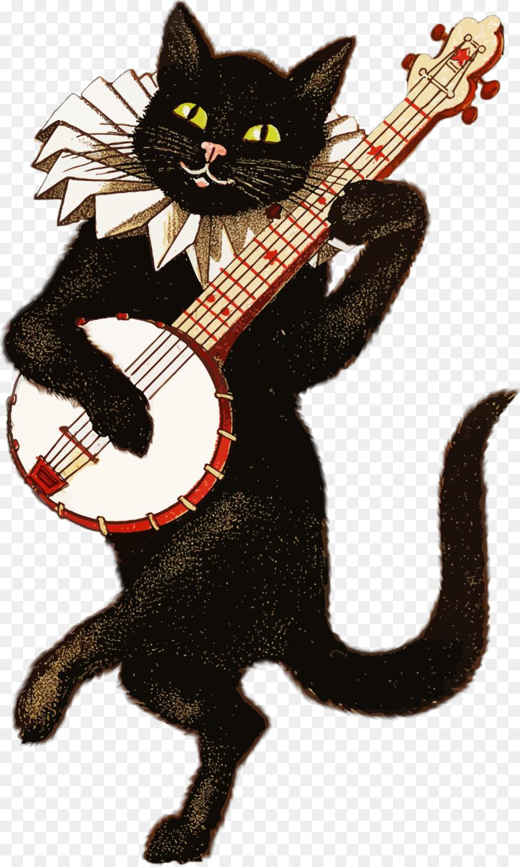 Картинки с надписью поздравляю кот с гитарой