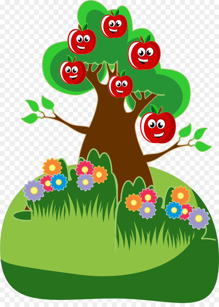 самом картинки дерево с яблочками котенком очках