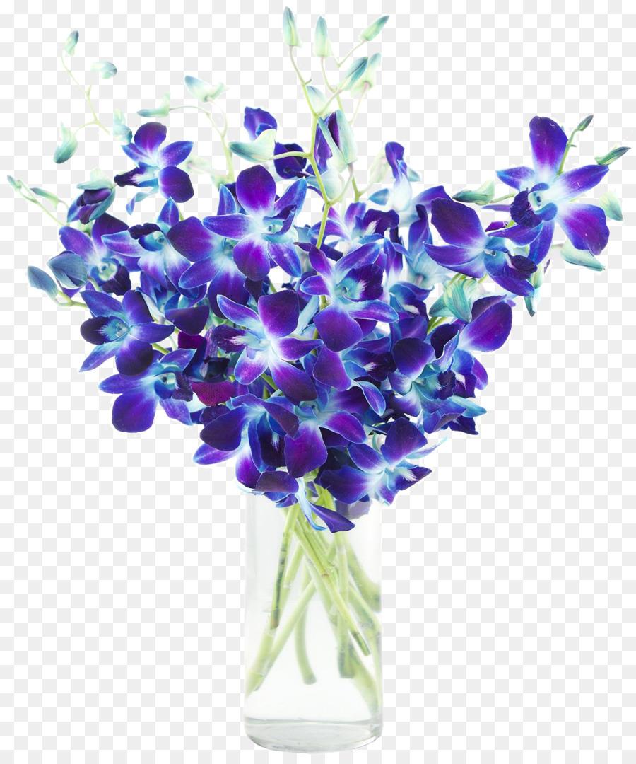 Цветы, купить букет с орхидея дендробиум синяя