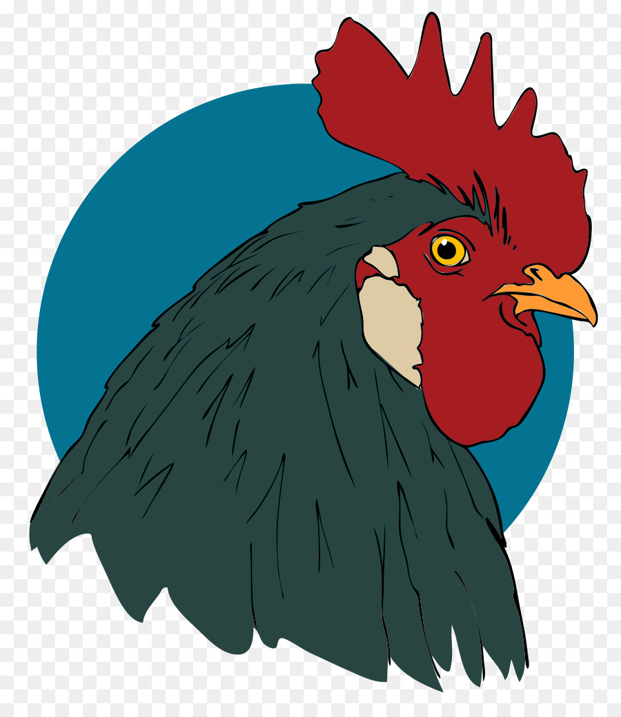 rooster head cartoon - 730×850