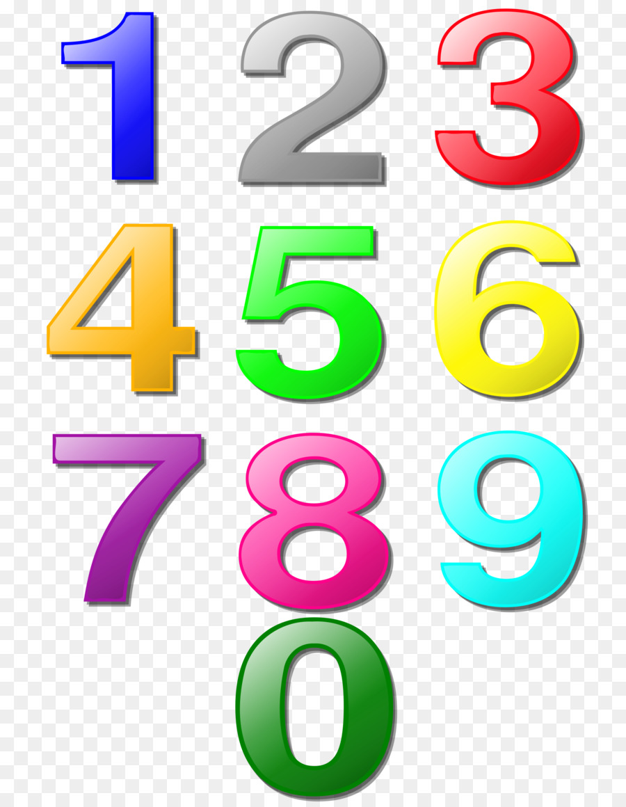 Цветные картинки цифры