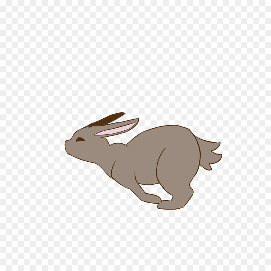 Анимация заяц бежит на прозрачном фоне